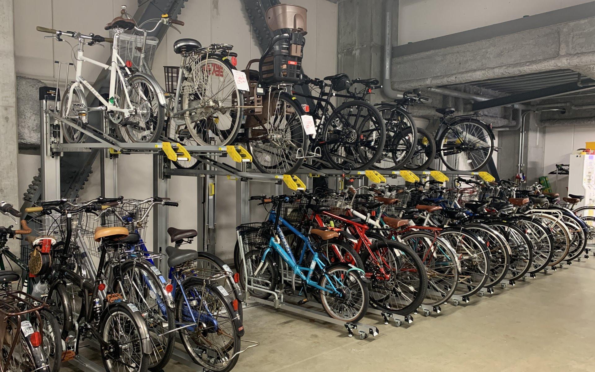 升降式自行車架、雙層自行車架